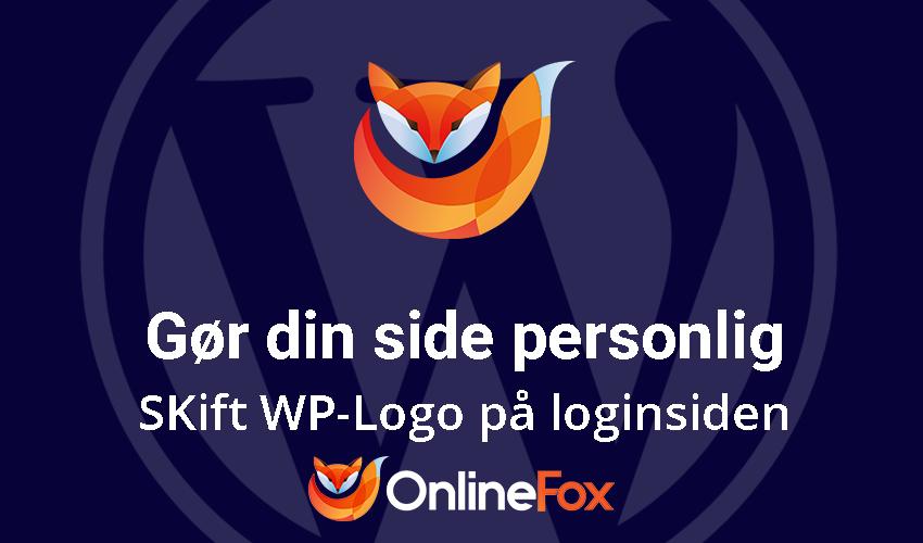 Sådan ændrer du WP logo på dit login-side