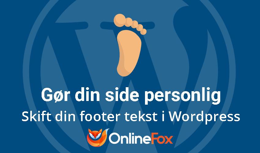 Sådan ændrer du footer-tekst i dit WordPress dashboard